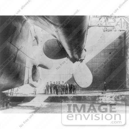 #5232 Rudder and Propellers of RMS Titanic by JVPD