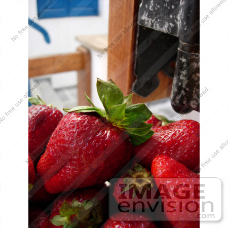#53850 Royalty-Free Stock Photo of a closeup of strawberries by Maria Bell