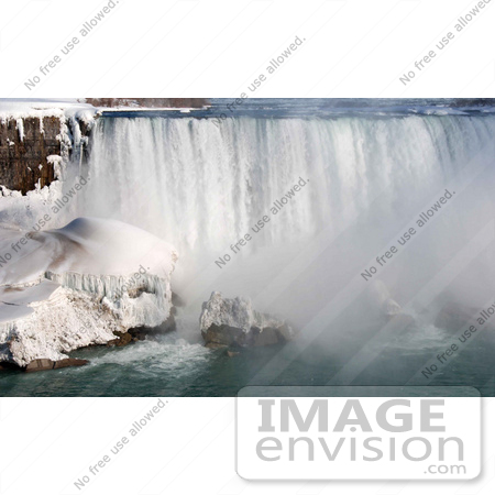 #53899 Royalty-Free Stock Photo of Niagara Falls in Winter, Canadian Side by Maria Bell