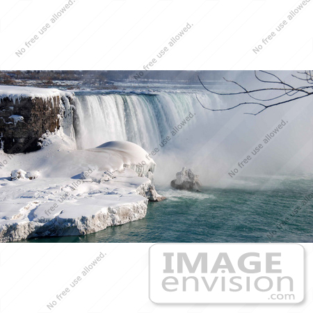 #53901 Royalty-Free Stock Photo of Niagara Falls in Winter, Canadian Side by Maria Bell