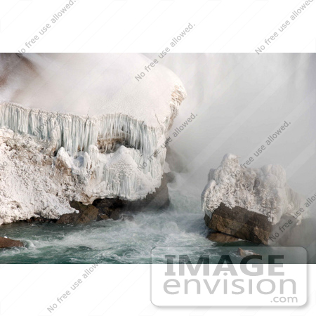 #53902 Royalty-Free Stock Photo of Niagara Falls in Winter, Canadian Side by Maria Bell