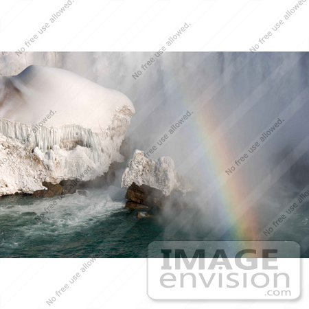 #53903 Royalty-Free Stock Photo of Niagara Falls in Winter, Canadian Side by Maria Bell