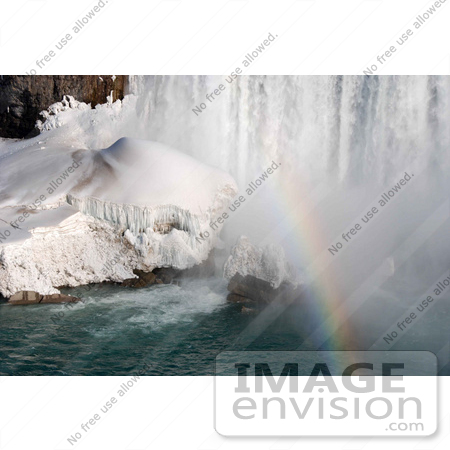 #53907 Royalty-Free Stock Photo of Niagara Falls in Winter, Canadian Side by Maria Bell