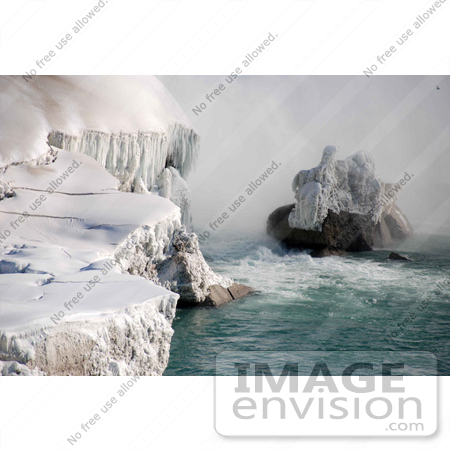 #53909 Royalty-Free Stock Photo of Niagara Falls in Winter, Canadian Side by Maria Bell