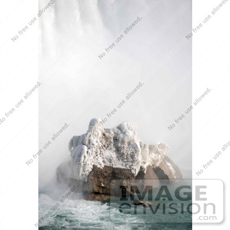 #53910 Royalty-Free Stock Photo of Niagara Falls in Winter, Canadian Side by Maria Bell