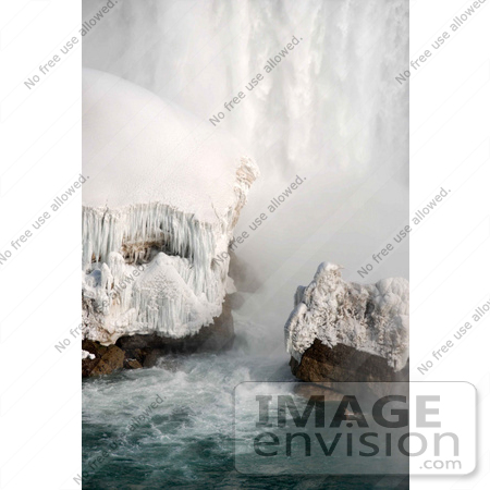 #53911 Royalty-Free Stock Photo of Niagara Falls in Winter, Canadian Side by Maria Bell