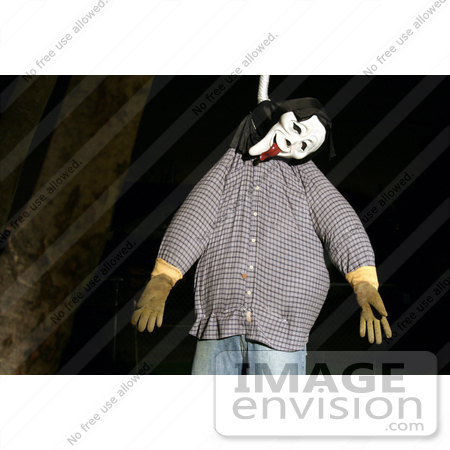#56 Picture of a Halloween Dummy Hanging from Tree by Kenny Adams