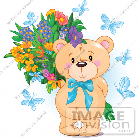 blue flowers clip art. #56191 Royalty-Free (RF) Clip