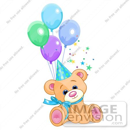 birthday balloons wallpaper. party hat.