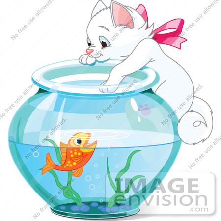 goldfish bowl clipart. #56216 Royalty-Free (RF) Clip