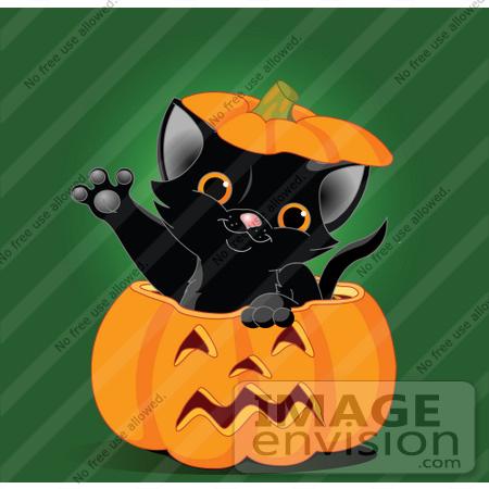 royaltyfree rf clip art of a cute black kitten