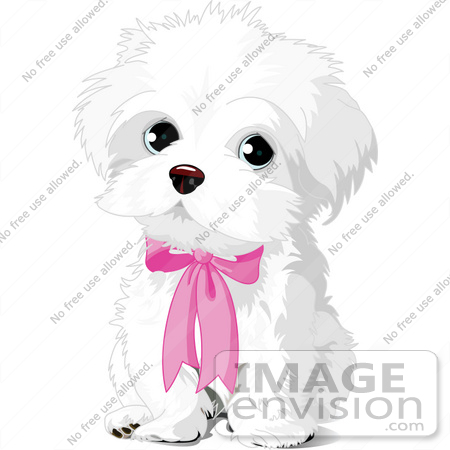 Beautiful Puppies Bow Adorable Dog - 56237-royalty-free-rf-clip-art-of-a-cute-white-puppy-dog-wearing-a-pink-bow-by-pushkin  Picture_551695  .jpg