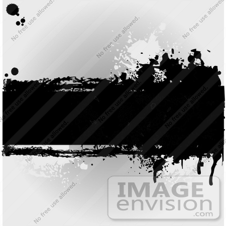 #56296 Royalty-Free (RF) Clip Art Illustration Of A Grungy Gray Background With Ink Splatters And A Text Bar by pushkin