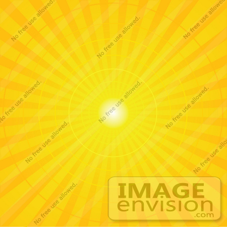 #56325 Royalty-Free (RF) Clip Art Illustration Of A Yellow Radial Burst Background Of Light Rays by pushkin