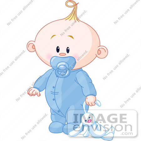 56349 Royalty-Free (RF) Clip Art Illustration Of A Baby Boy Dragging ...