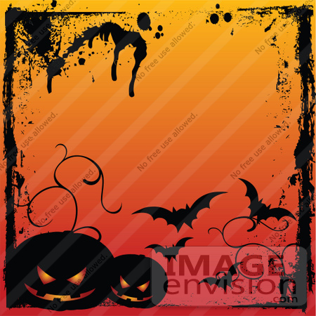 Royalty-Free (RF) Clip Art Illustration Of A Grungy Halloween ...