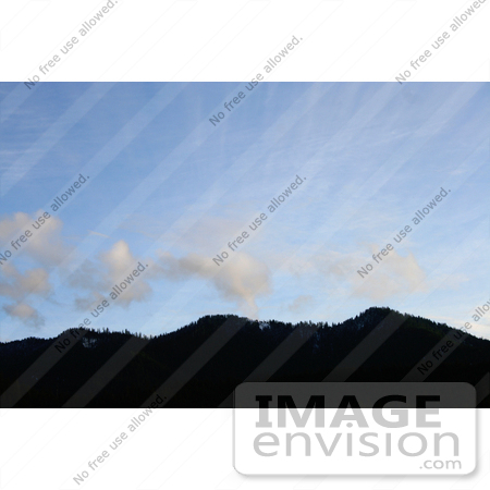 #571 Photograph of a Mountain at Applegate Lake, With Unique Clouds by Jamie Voetsch