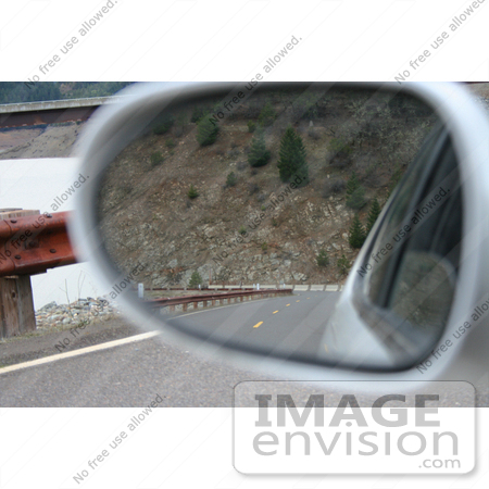 #574 Photograph of a View in a Rear View Mirror by Jamie Voetsch