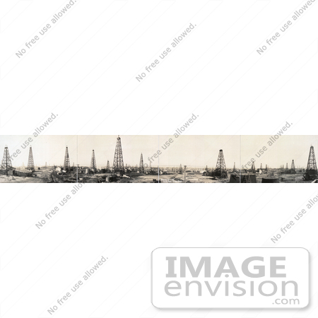 #5744 Drilling Towers Over Oil Wells by JVPD