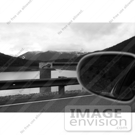 #575 Photo of a Reflection in a Car Side Mirror at Applegate Lake, Oregon by Jamie Voetsch