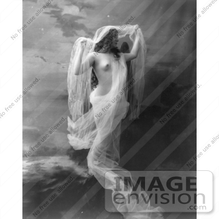 #5851 Nude Draped in Sheer Cloth by JVPD