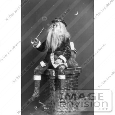 #5924 Santa on Chimney by JVPD