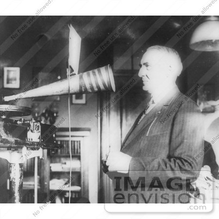 #5972 President Harding Recording His Voice by JVPD