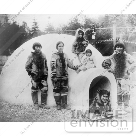 #5998 Inuit Eskimos With Igloo by JVPD