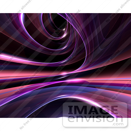 #60703 Royalty-Free (RF) Illustration Of A Reflective Purple Spiral Website Background - Version 7 by Julos