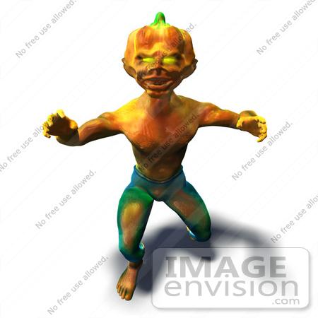 Royalty Free Rf Illustration Of A 3d Pumpkin Monster