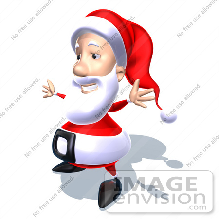 #60769 Royalty-Free (RF) Illustration Of A 3d Santa Claus Holding His Arms Open - Version 6 by Julos