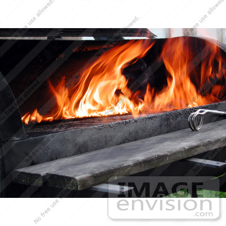 #61 Picture of a Lit Barbecue Grill by Kenny Adams
