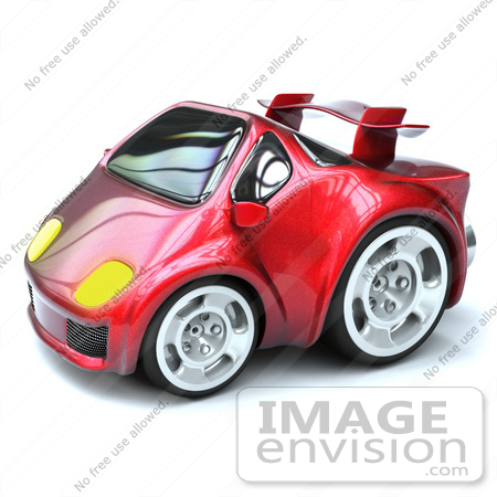 #61031 Royalty-Free (RF) Illustration Of A 3d Compact Sports Car - Version 2 by Julos