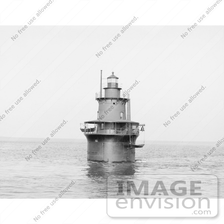 #61040 Royalty-Free Historical Stock Photo Of A View Of Deer Island Light, Boston, Massachusetts, In 1906 by JVPD