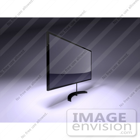 #61131 Royalty-Free (RF) Illustration Of A 3d Slim LED TV On A Raised Mount - Version 4 by Julos