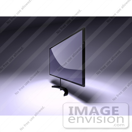 #61134 Royalty-Free (RF) Illustration Of A 3d Slim LED TV On A Raised Mount - Version 3 by Julos