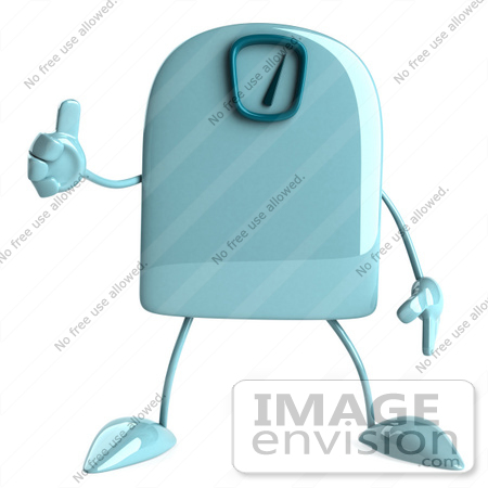 #61250 Royalty-Free (RF) Illustration Of A 3d Green Foot Scale Character Giving A Thumb Up by Julos