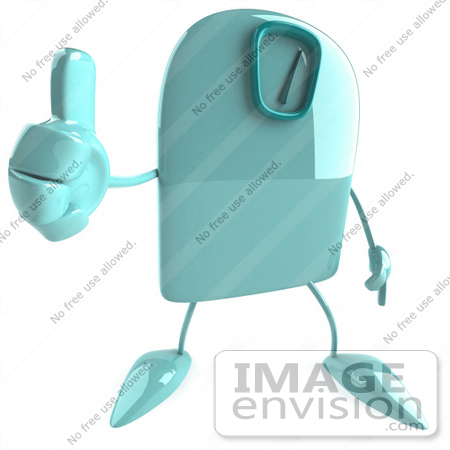 #61252 Royalty-Free (RF) Illustration Of A 3d Green Foot Scale Character Holding A Thumb Up by Julos