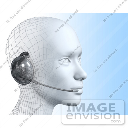 #61260 Royalty-Free (RF) Illustration Of A 3d Customer Service Representative Wearing A Headset - Version 4 by Julos