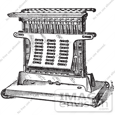 #61342 Retro Clipart Of A Vintage Antique Electric Toaster In Black And White - Royalty Free Vector Illustration by JVPD
