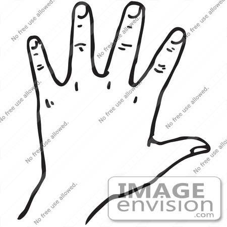 clipart of a hand in black and white royalty free vector illustration 61765 by jvpd royalty free stock cliparts image envision