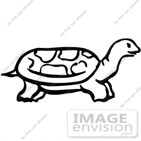 #61903 Clipart Of A Tortoise In Profile - Royalty Free Vector Illustration by JVPD