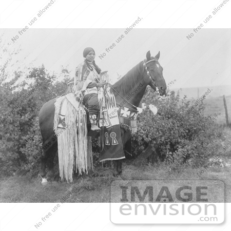 #6212 Cayuse Woman on Horse by JVPD
