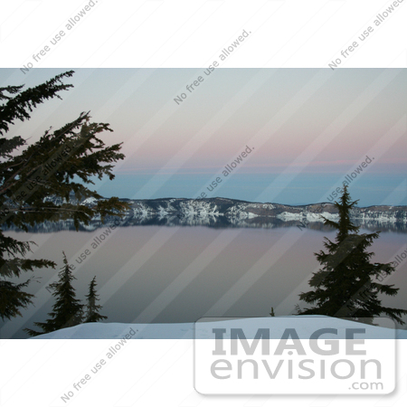 #625 Photograph of Crater Lake at Dusk by Jamie Voetsch