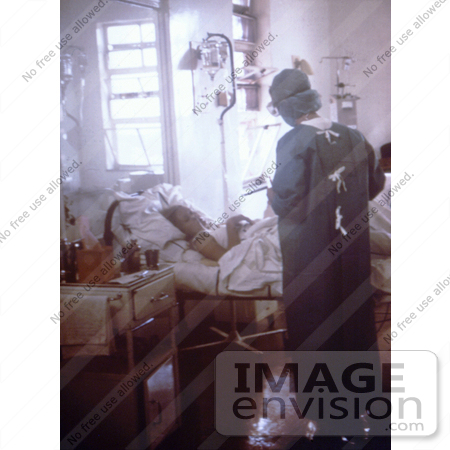 #6292 Picture of a Doctor Caring for a Johannesburg, South African Marburg Virus Patient by KAPD