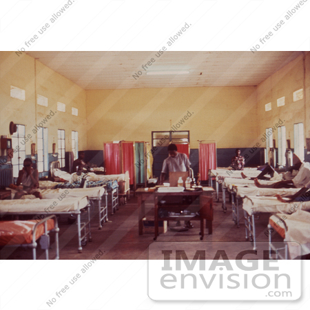 #6293 Picture of a Ward Housing Men Affected by the Lassa fever in Segbwema, Sierra Leone by KAPD