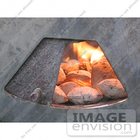 #63 Picture of Charcoal Burning in Barbecue Grill by Kenny Adams