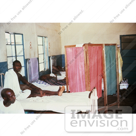 #6305 Picture of a Barrier Nursing Which was Practiced On Male Patients in the Lassa Fever Ward in Segbwema, Sierra Leone by KAPD