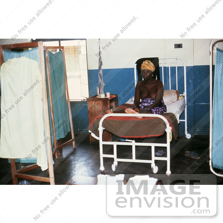 #6311 Picture of a Female Patient Recovering from Lassa Fever in the Segbwema, Sierra Leone Clinic by KAPD