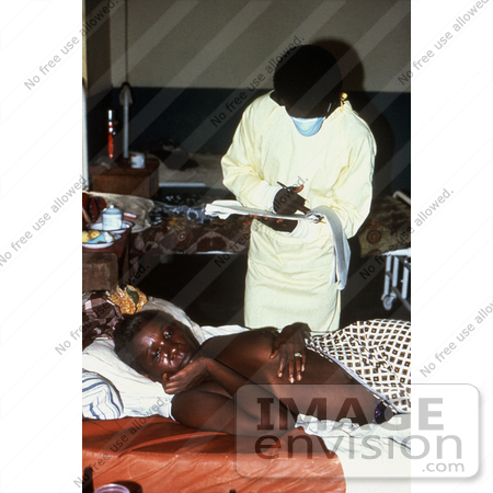 Picture of a Lassa Fever Patient Receiving Treatment at the ...